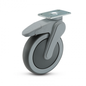 Avant 6-inch swivel caster with top plate and US total lock