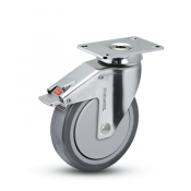 """SS 1-1/4"""" Stainless Steel Top Plate Total Lock"""